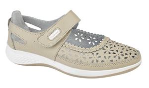 Boulevard-Louise - Ladies Wide Fitting Velcro Shoe