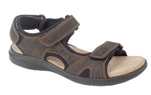Roamers RICHARD - Mens Wide Fitting Touch Close Fastening Sandal
