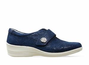 Wide fit ladies velcro shoes velcro