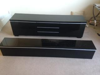 Strange Ikea Besta Burs Tv Bench And Matching Wall Unit In High Andrewgaddart Wooden Chair Designs For Living Room Andrewgaddartcom
