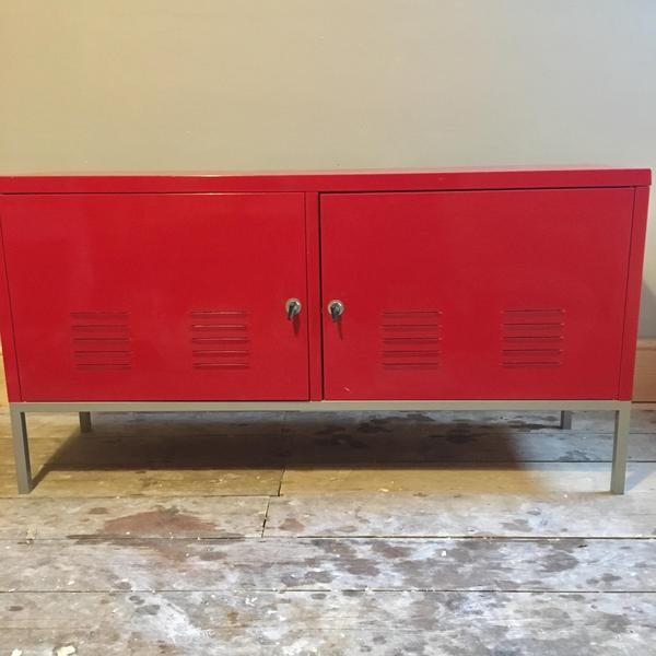 Ikea Retro Red Metal Sideboard Cabinet Storage Unit PS In Cowes   Expired |  Wightbay