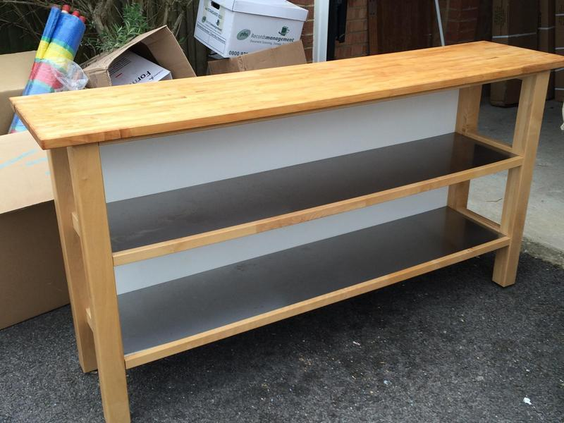 sports shoes 03b5c 7f0be Ikea Freestanding Kitchen Unit with Worktop & Shelves in ...