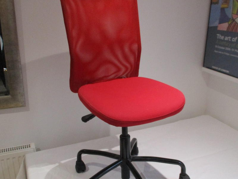 ikea red office chair. IKEA RED SWIVEL OFFICE CHAIR FULL BACK ADJUSTABLE HEIGHT - TORBJORN In Ryde Ikea Red Office Chair E