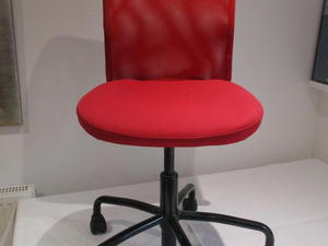 ikea red office chair. IKEA RED SWIVEL OFFICE CHAIR FULL BACK ADJUSTABLE HEIGHT - TORBJORN Ikea Red Office Chair