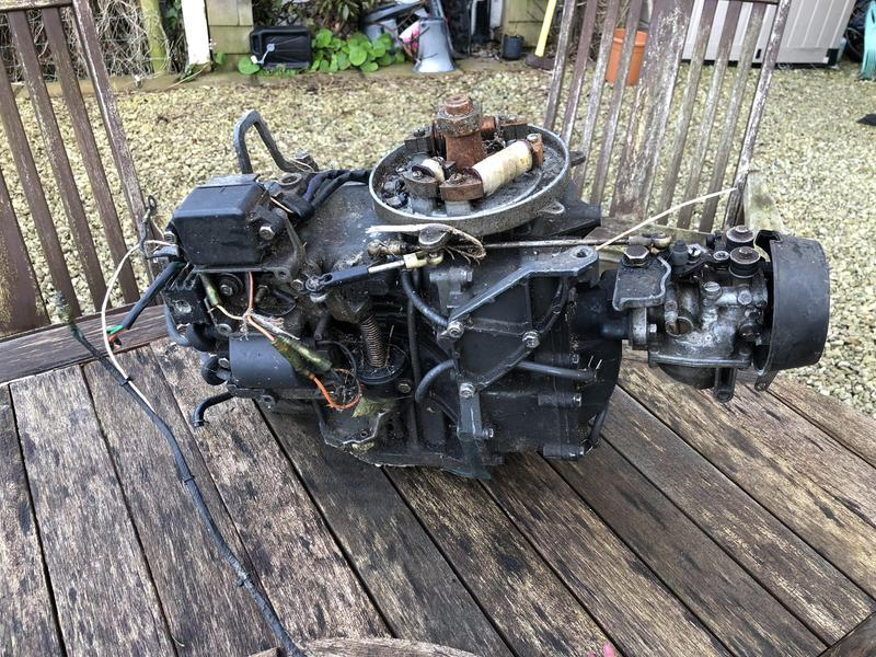 Yamaha 40B 2 stroke 2 cylinder single carb block for spares or