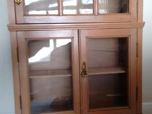 Fully Restored Antique Solid Wood Wall Cabinet/shelving Unit With.