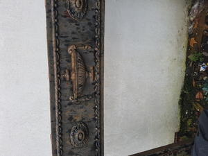 Antique cast iron fireplace surround in Shanklin
