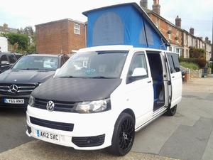 2012 VW T5 Camper T30 TDI SWB Pop-Top 5 Seats in Ventnor