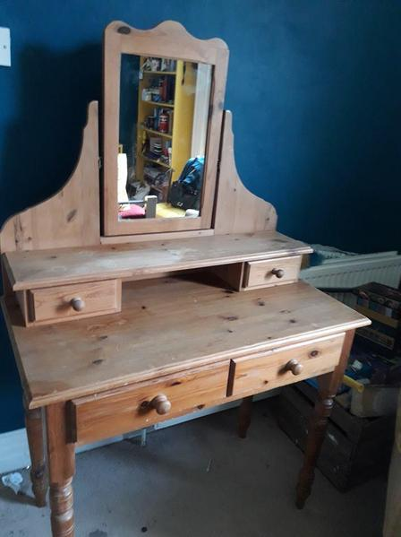 quality design b2c37 bb1d9 pretty Antique pine dressing table - Shanklin - Expired ...