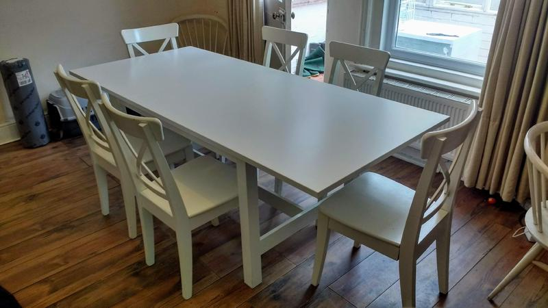 Ikea Norden Extendable Dining Table And 6 Ingolf Chairs In Bembridge