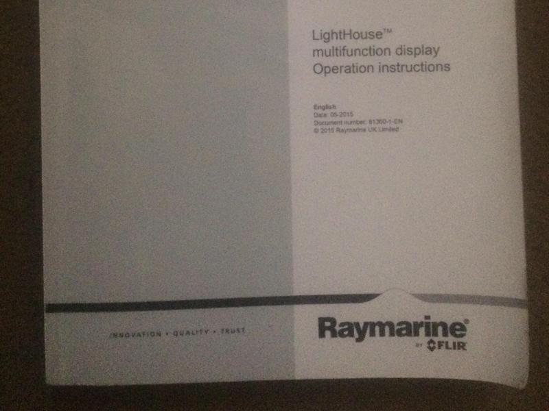 Raymarine MFD Manual A series used on our A98 in Cowes - Expired