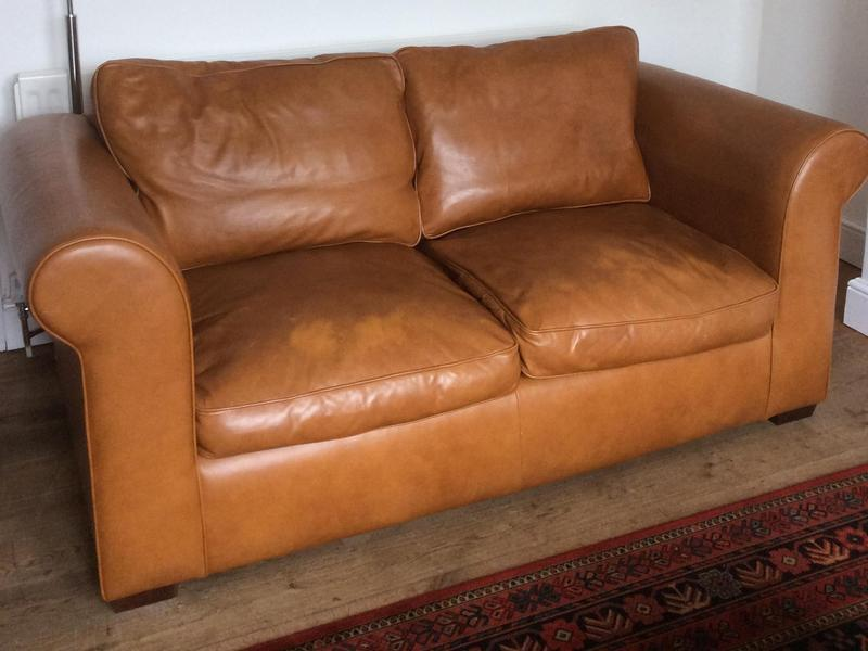 Laura Ashley leather sofa in Cowes - Sold | Wightbay
