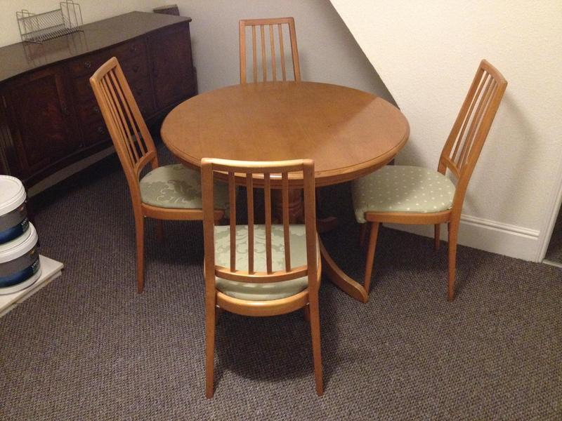 Round Table And Four Chairs In Cowes Wightbay