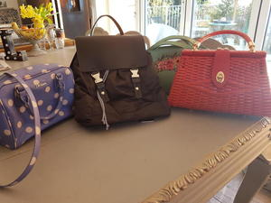 94ceffe403a97 3 Handbags and 1 back pack. Excellent condition.