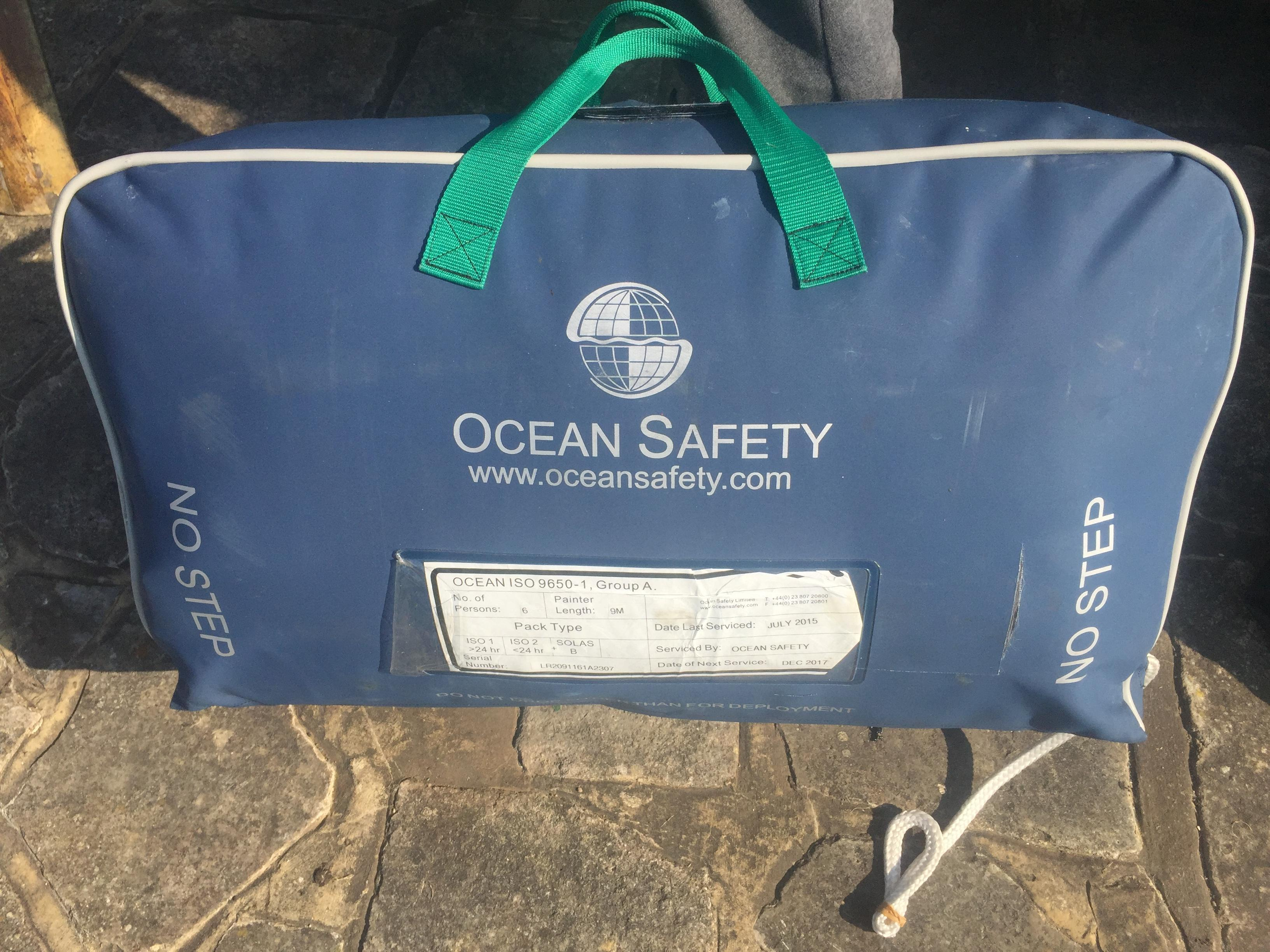 Ocean Safety ISO 9650 6-person liferaft in valise - Newport