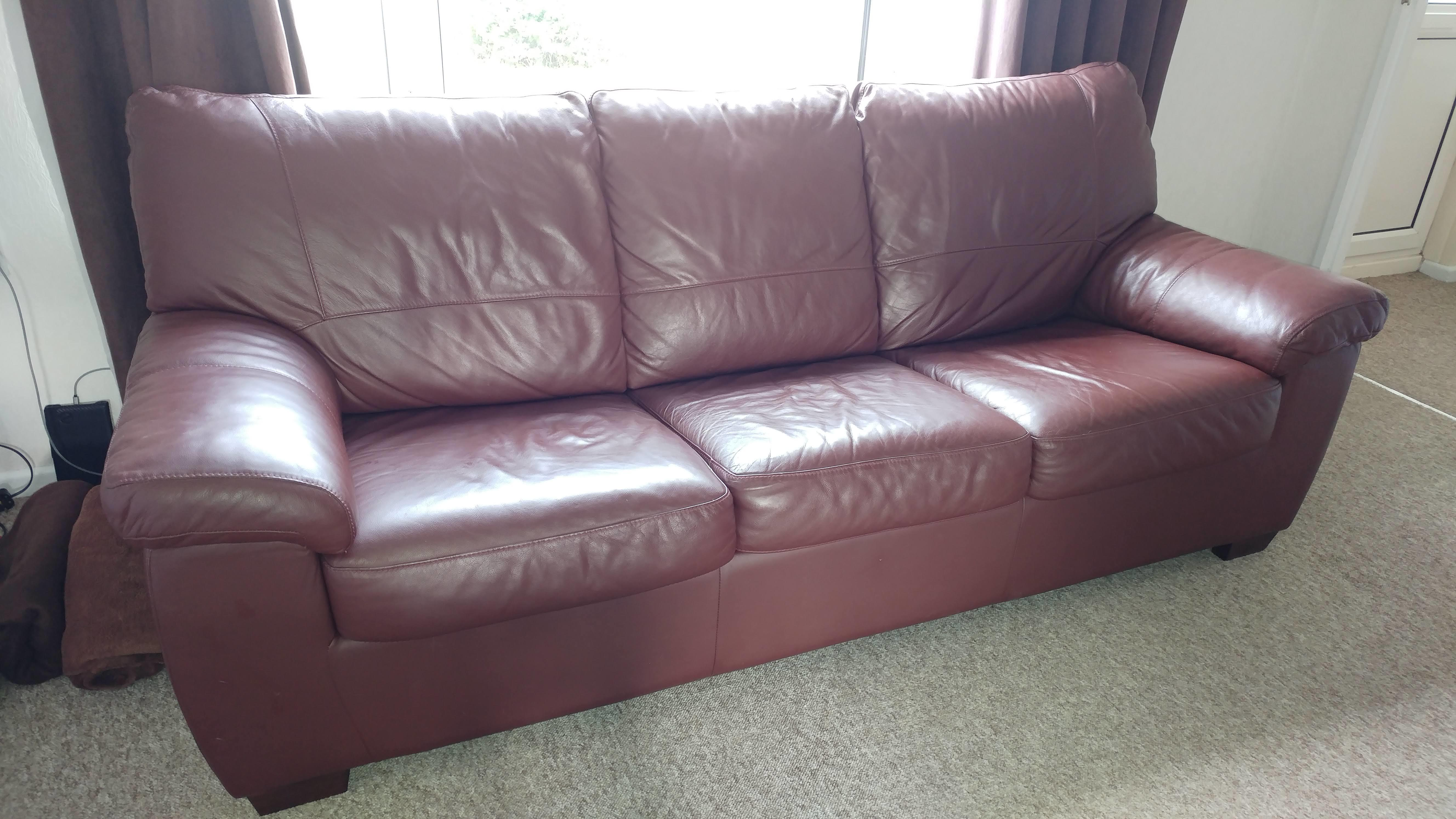 Peachy Large Leather Sofa Bed Price Reduced In Ventnor Wightbay Pdpeps Interior Chair Design Pdpepsorg