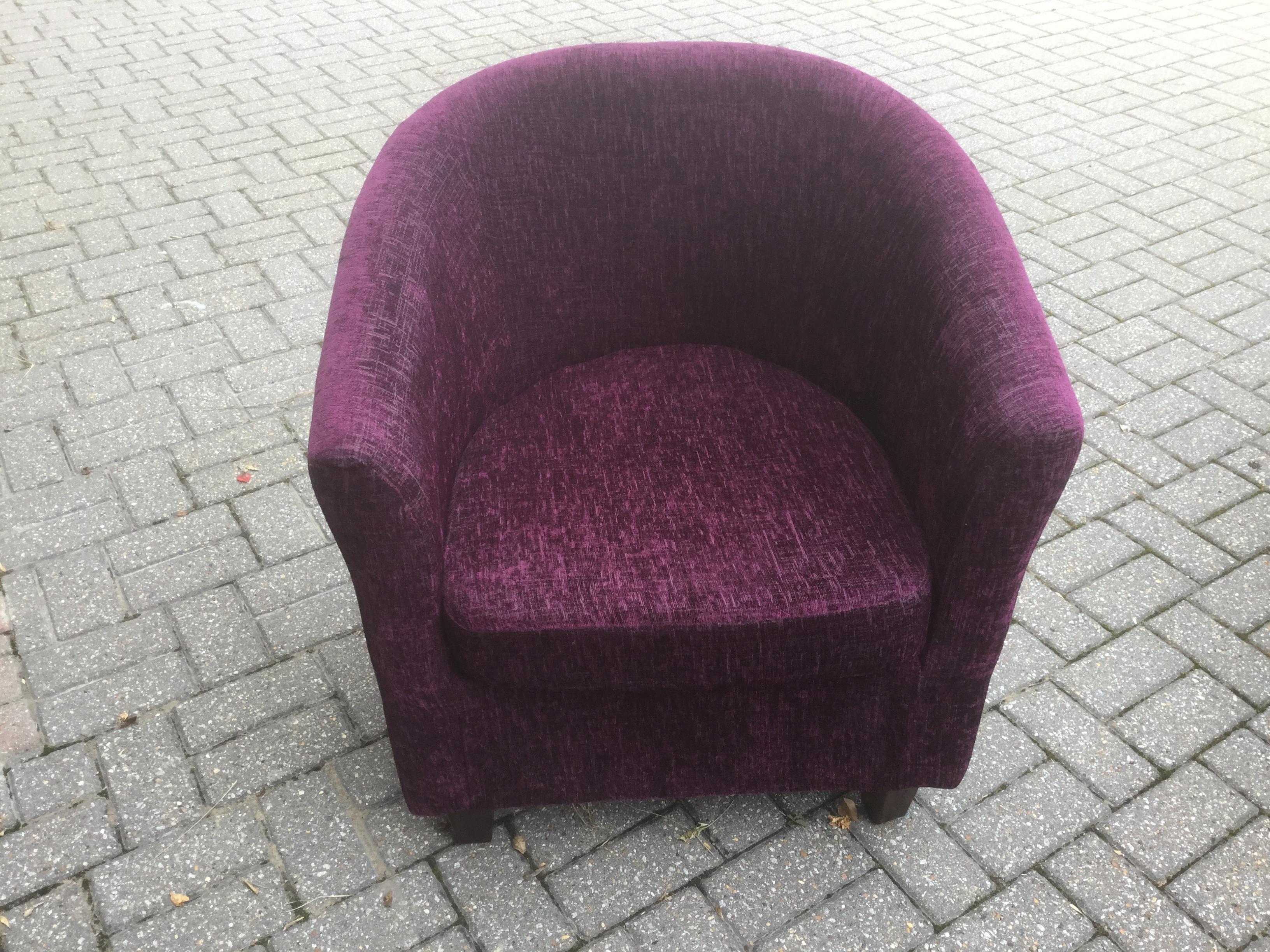 detailed look c1e3d 53e95 Dunelm Plumb Bedroom Tub Chair in Sandown   Wightbay