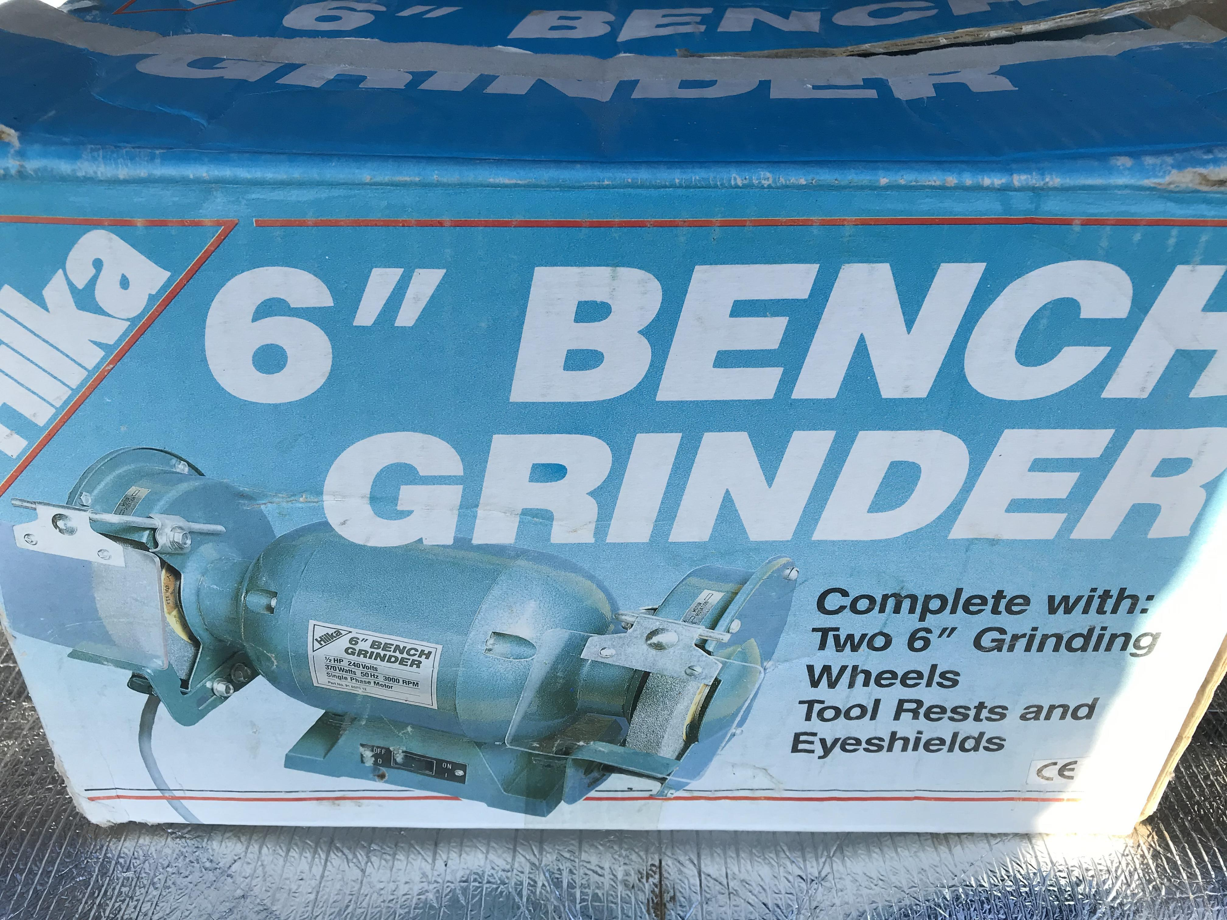Incredible New Unused Hilka 6 Inch Bench Grinder Vgc Sandown Wightbay Gmtry Best Dining Table And Chair Ideas Images Gmtryco