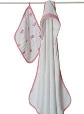 Aden + Anais Hooded Terry Towel & Muslin Washcloth Set