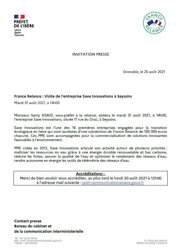 Communiqué presse préfecture de l'Isère