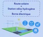Inauguration de la route solaire à Savoie Technolac