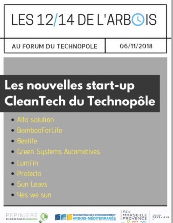 Pitch du 06/11/18 à la Technopôle de l'Arbois