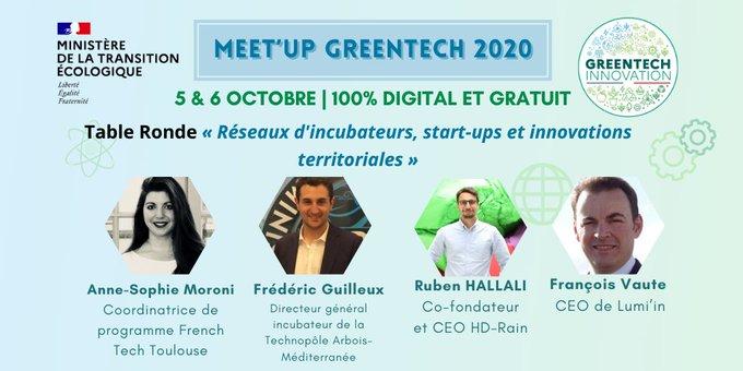 Lumi'in au coeur des réseaux durables lors du Meet'Up Greentech Innovation du Ministère de la Transition Ecologique