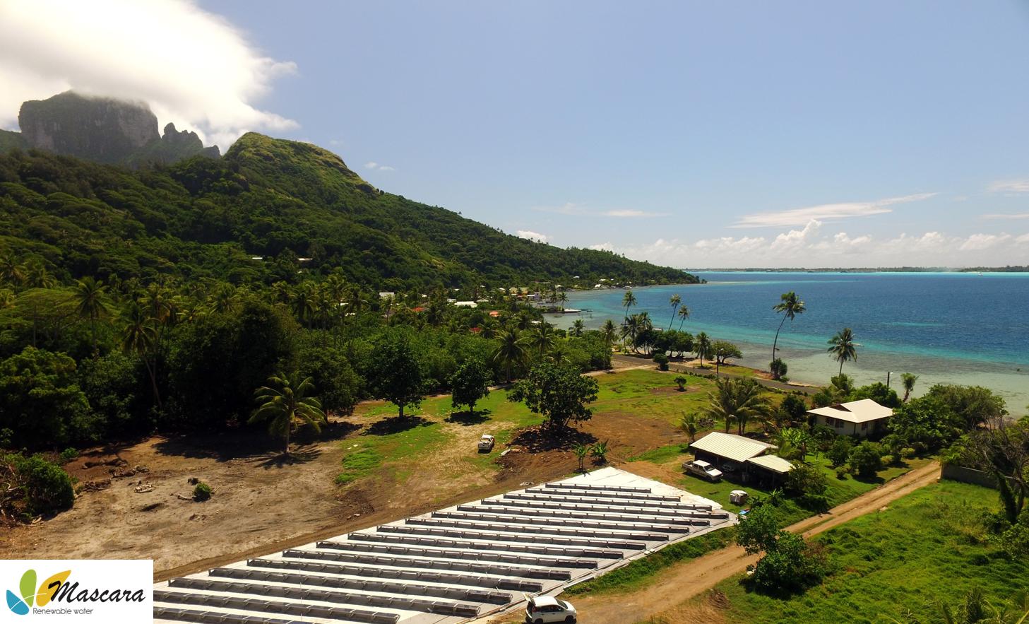 Installation OSMOSUN® à Bora Bora en Polynésie Française