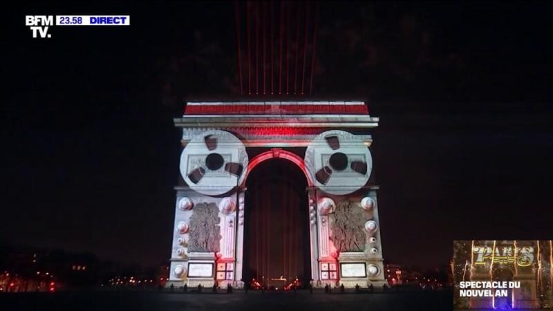 Fireworks Paris 2020 Champs-Élysées full / Champs-Élysées feux d'artifice nouvel an paris 2020