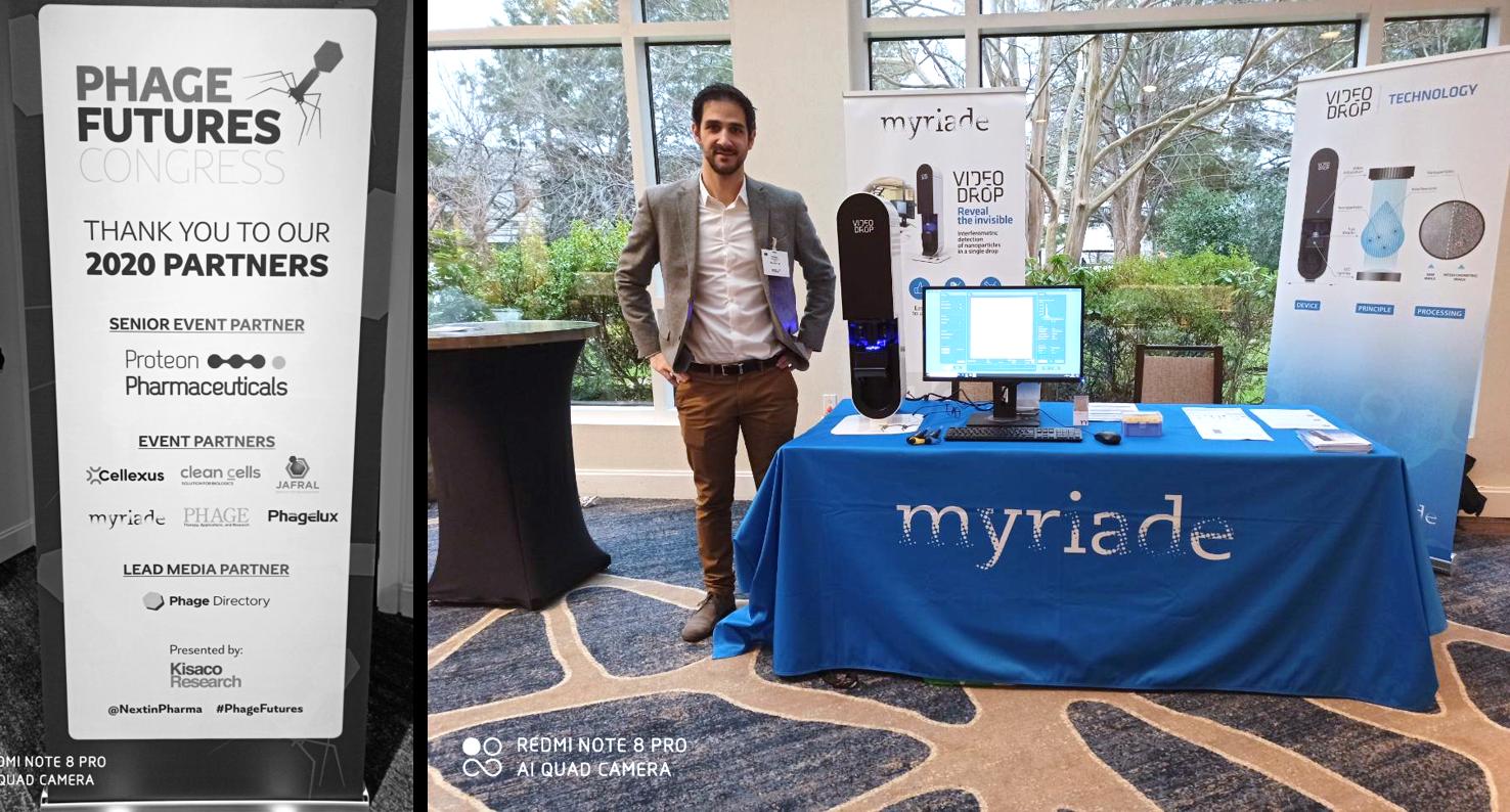 MYRIADE, partenaire du congrès Phage Futures, présente le Videodrop