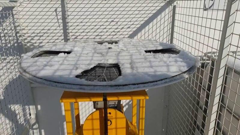 Le moteur solaire SAUREA sous la neige !