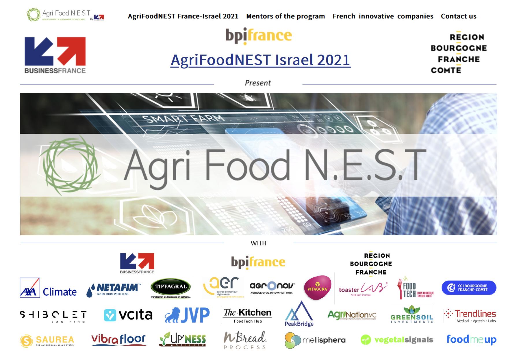 AgriFoodNEST France-Israel 2021