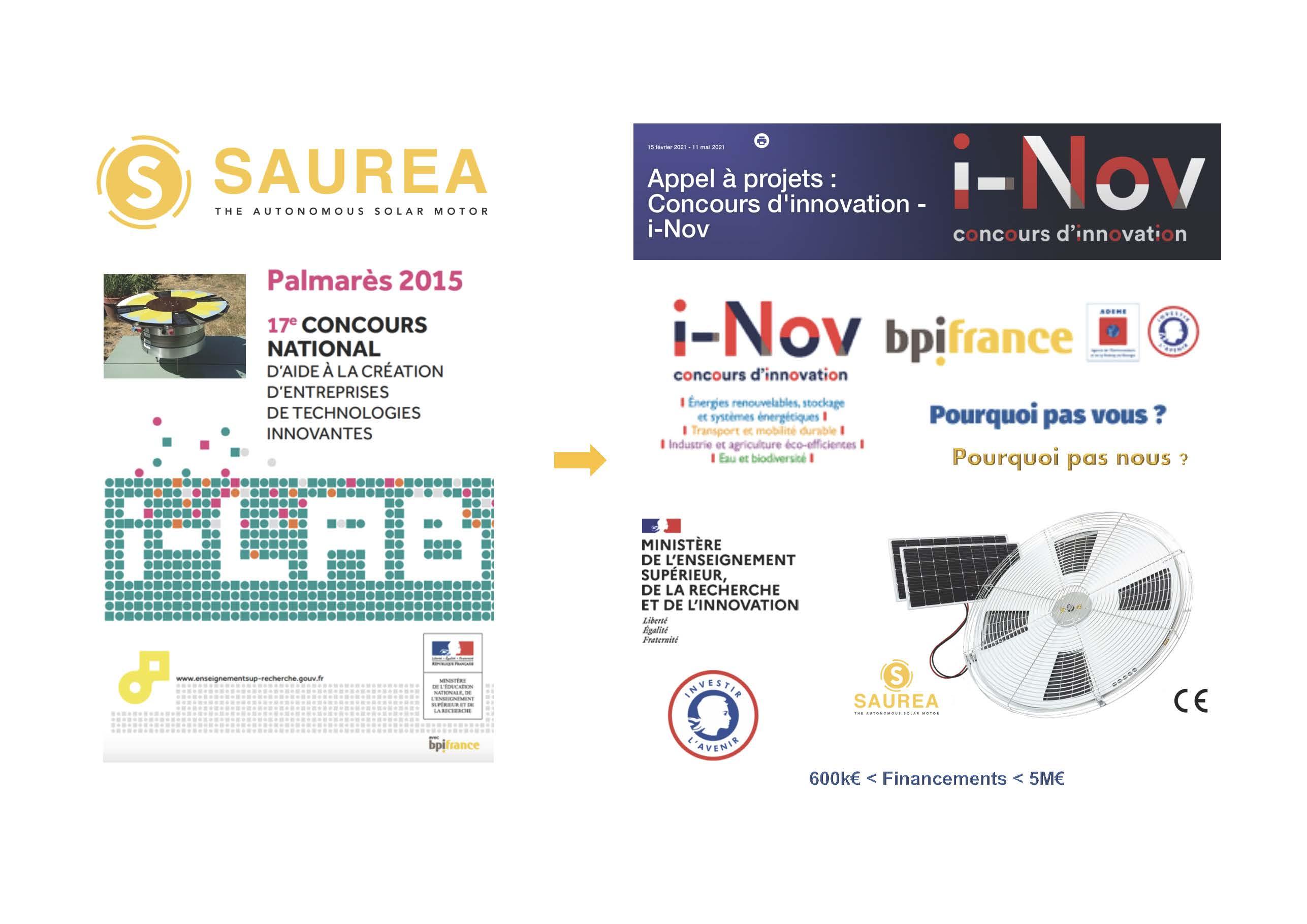 Du concours Ilab à INov : une démarche de financement logique pour SAUREA