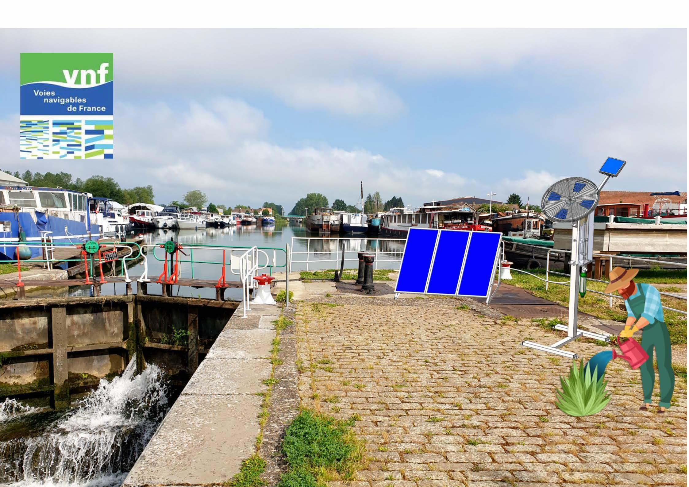 Projet écluse n°76S du Canal de Bourgogne