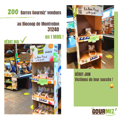 Les barres Gourmiz' au Biocoop de Montredon