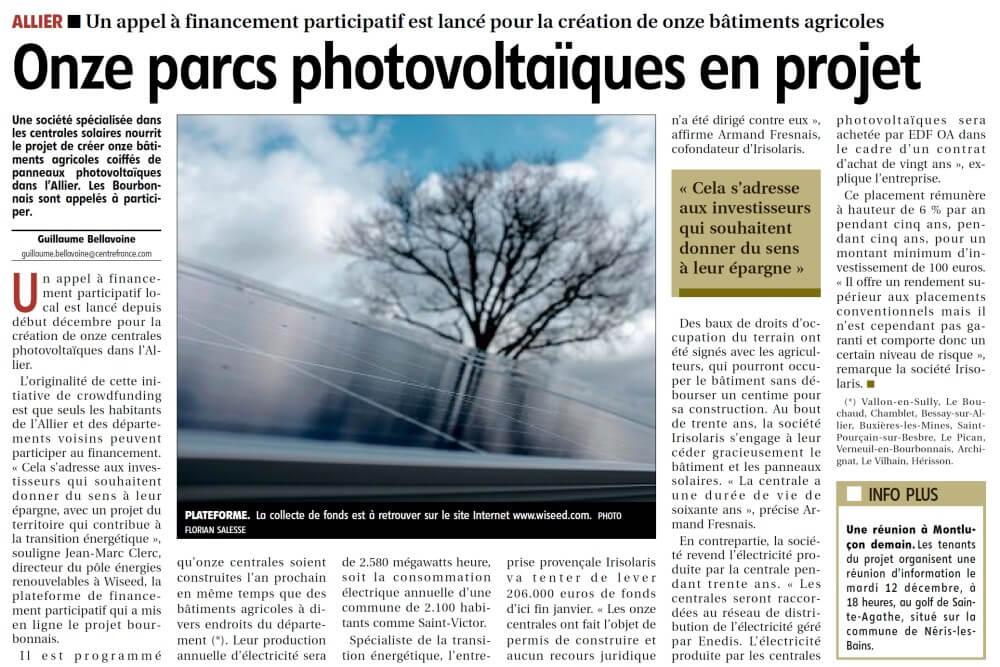 Article Presse La Montagne (11 décembre)