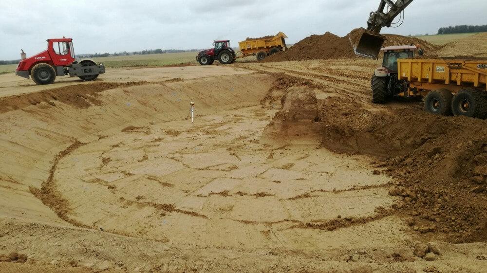 Excavation plateforme N° 3