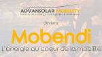 Advansolar Mobility devient MOBENDI