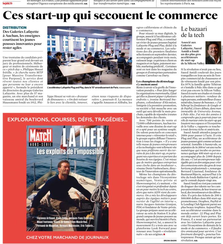 """Le JDD : """"Ces start-up qui secouent le commerce"""""""