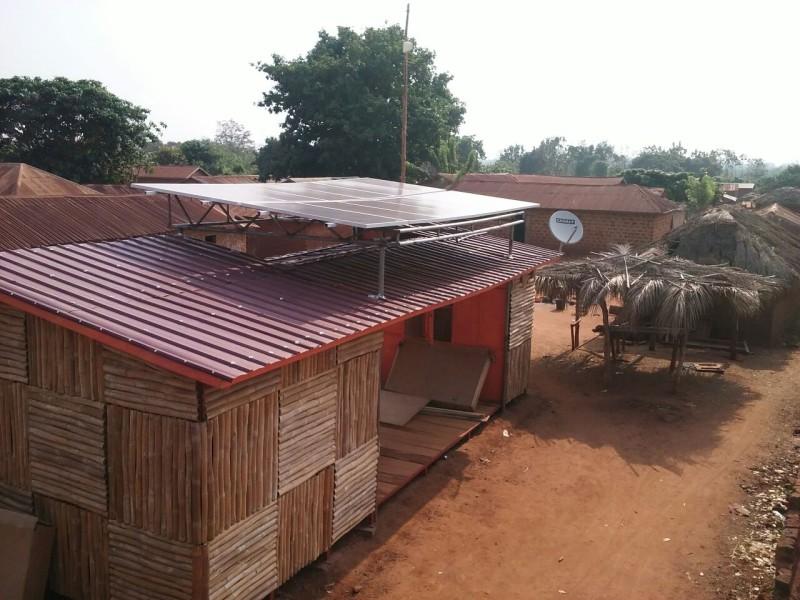 L'Agence Energie du village de Djékloué après installation