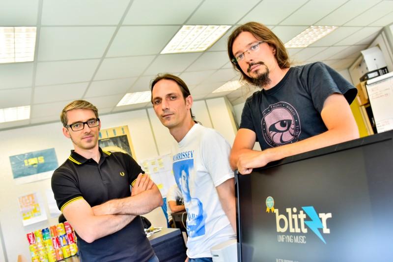 L'équipe fondatrice: Bertrand, Pierre & Johan