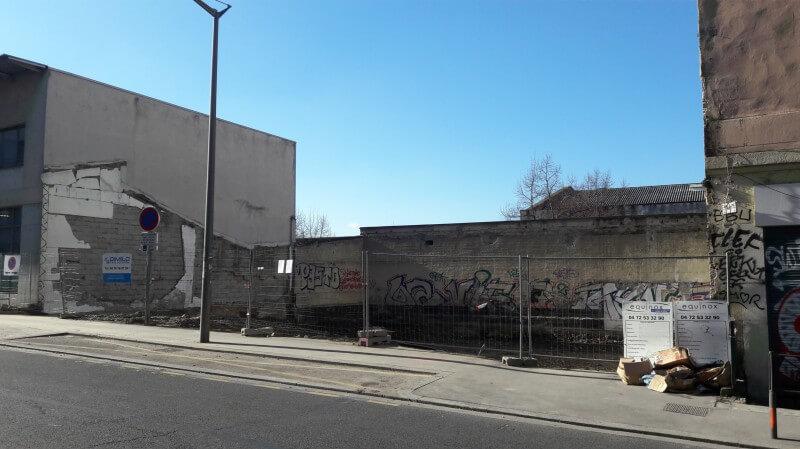 Photo après démolition