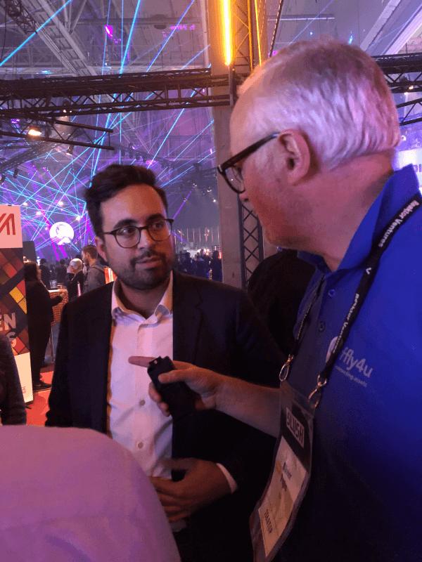 Rencontre avec Mounir Mahjoubi à Slush 2017
