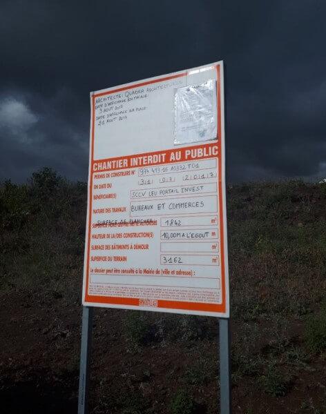 Affichage permis