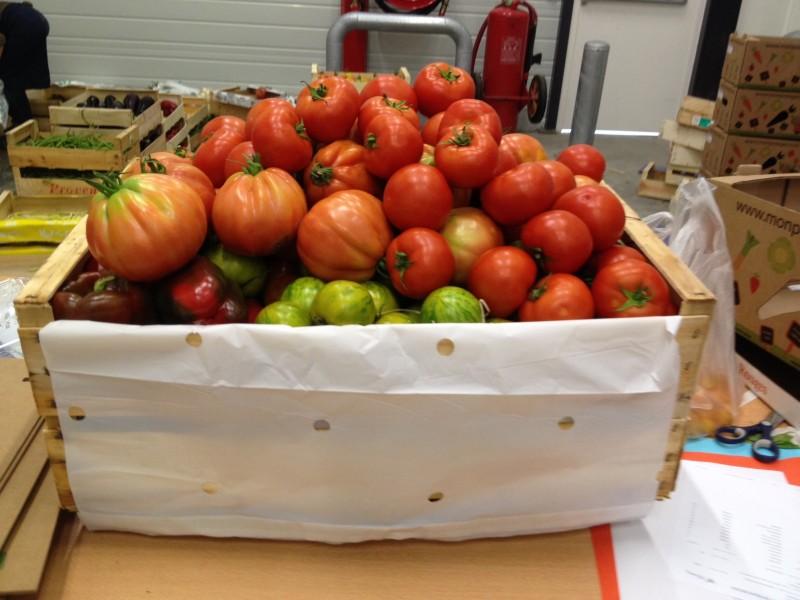 Une belle commande de tomates...