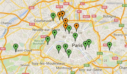 Les points relais fruits et légumes Monpotager.com de Région Parisienne