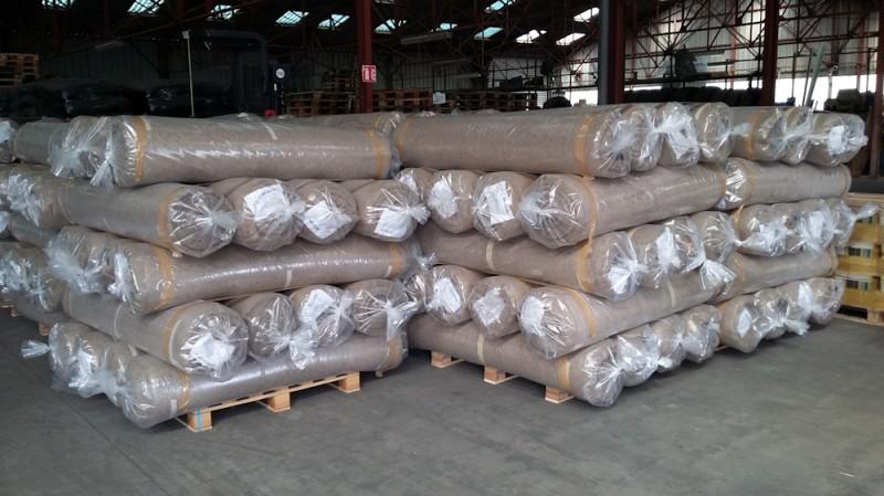 Production industrielle des tapis Biosorb