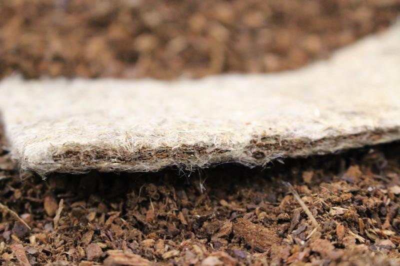 Les tapis Biosorb : mélange d'écorces d'arbres et de blousse de lin
