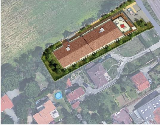 Vue du ciel : résidence Terracita