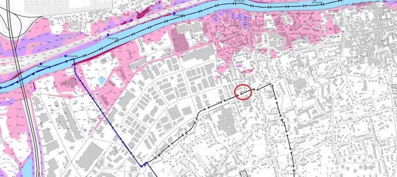 Localisation terrain - Plan de Prévention des Risques d'Inondation (PPRI)